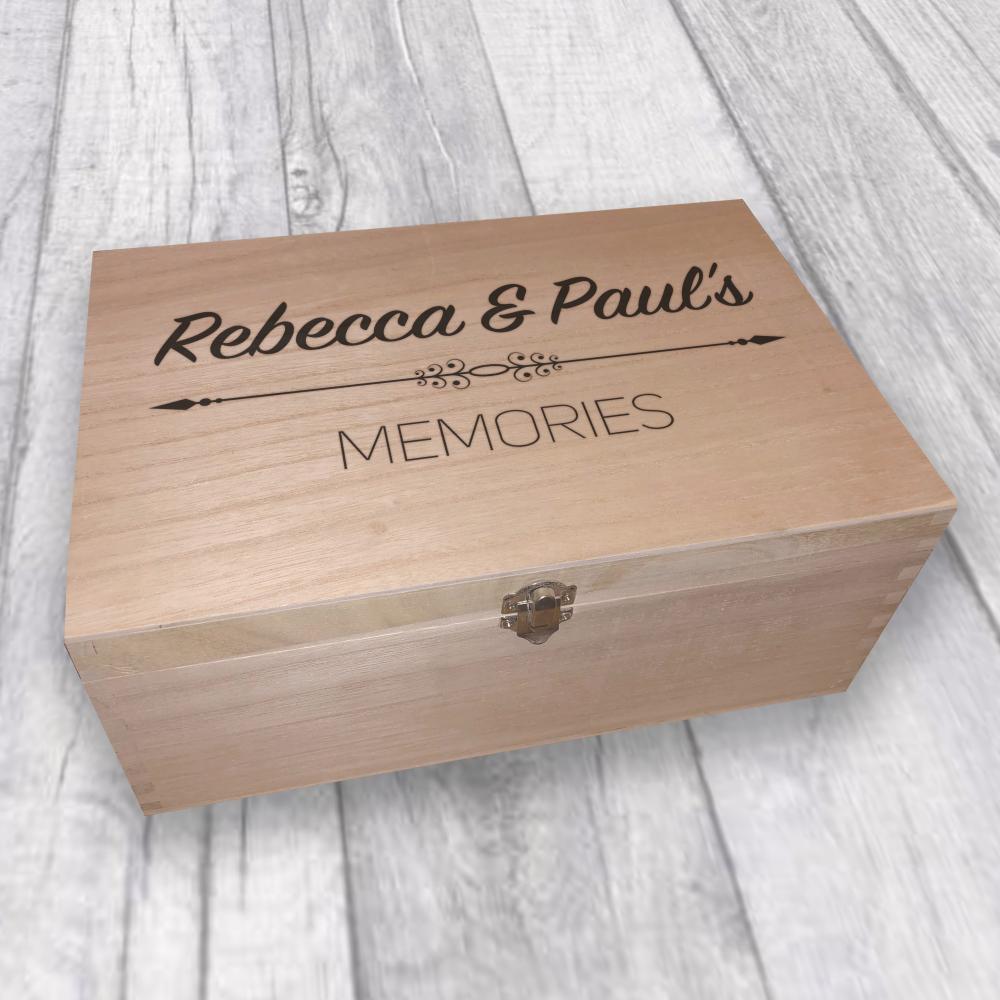 Laser Engraved Wooden Memories Memory Box