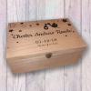 Baby Memory Box - Name Date Weight Storks Stars