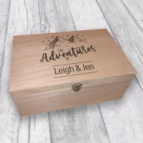 Personalised Memory Box for Families, Travels Adventures